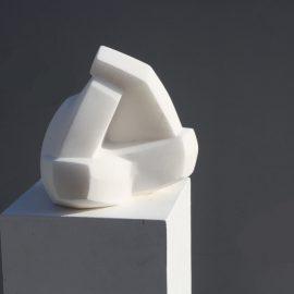 Au Backe, Alabaster Skulptur, Birgit Rehfeldt